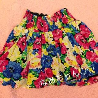 花柄ボリュームスカパン★(ミニスカート)