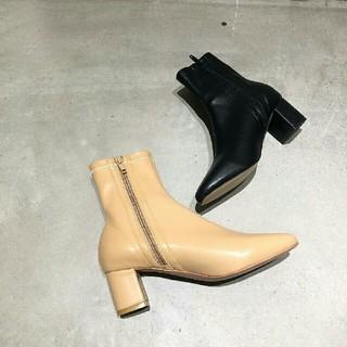 トゥデイフル(TODAYFUL)の【新品未使用】完売TODAYFUL ストレッチアンクルブーツ黒 38靴ブーティ(ブーツ)