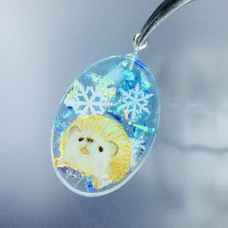 雪の結晶ハリネズミ  ネックレス(ネックレス)
