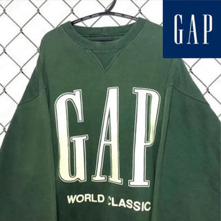 ギャップ(GAP)の希少デザイン オールドギャップ デカロゴ 大人気カラー 80s 90s(スウェット)