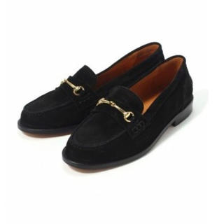 ドゥーズィエムクラス(DEUXIEME CLASSE)のBELLINI ビットローファー スエードブラック サイズ35(ローファー/革靴)