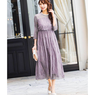 ファッションレター レースドレス(ミディアムドレス)