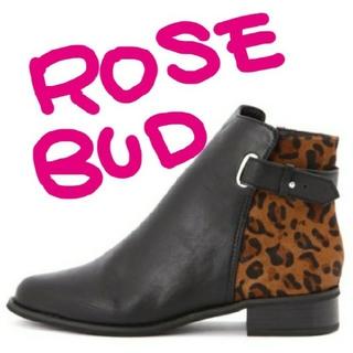 ローズバッド(ROSE BUD)のROSE BUD ショート ブーツ FRAY I.D IENA SNIDEL(ブーツ)