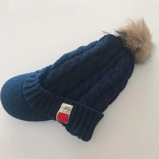 シマムラ(しまむら)の【新品タグ付】スヌーピー ニットキャスケット ツバ付きニット帽(キャスケット)