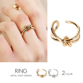 リング リボン ゴールド シルバー(リング(指輪))