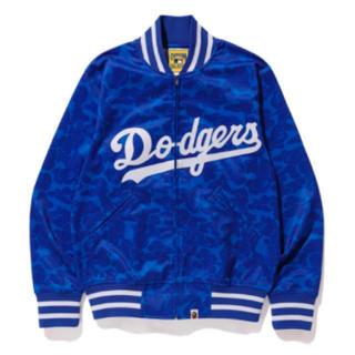 アベイシングエイプ(A BATHING APE)のbape mitchell ness dodgers jacket  XLサイズ(スタジャン)