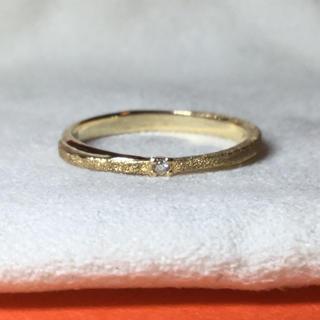 アガット(agete)の新品 SIENA ROSE K10ダイヤリング リミナンス 9号 10K 10金(リング(指輪))