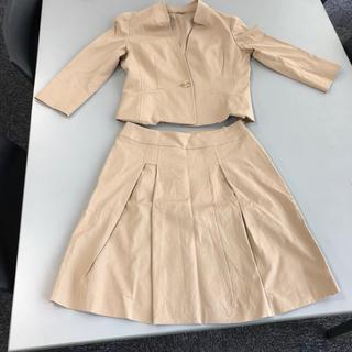 アナイ(ANAYI)のアナイ セットアップ ノーカラージャケット スカート  (スーツ)