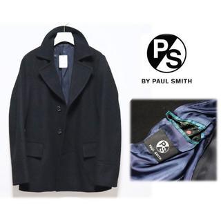 ポールスミス(Paul Smith)の49,500円新品【PS ポールスミス】ウール シングル ピーコート 黒 M(ピーコート)