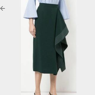 ルシェルブルー(LE CIEL BLEU)のルシェルブルー ラッフルスカート(ひざ丈スカート)