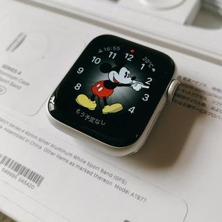 アップルウォッチ(Apple Watch)のApple Watch Series 4 GPSモデル 40mm シルバー(腕時計)