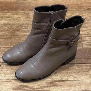 コロンビア(Columbia)のエイゾー レインブーツ ショートブーツ グレージュ 22.5cm(長靴/レインシューズ)