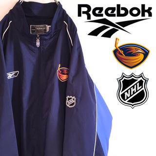 リーボック(Reebok)の古着 美品 アトランタ・スラッシャーズ NHL ナイロンジャケット リーボック(ナイロンジャケット)