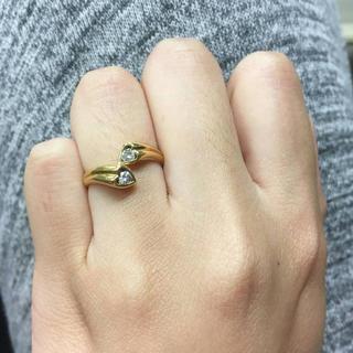 お値引き不可 K18 ダイヤモンド リング(リング(指輪))