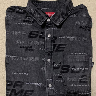シュプリーム(Supreme)のSupreme Dimensions Logo Denim Shirt L 黒(シャツ)