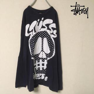 ステューシー(STUSSY)のStussy スカルデザインTシャツ ビッグプリント(Tシャツ/カットソー(七分/長袖))
