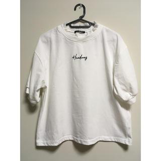 INGNI - INGNI 襟レースボリューム袖Tシャツ(ホワイト)