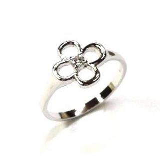 ☆SILVER925 【四つ葉】モチーフリング 高品質キュービックz使用 9号(リング(指輪))