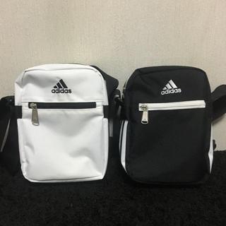【新品未使用】adidas アディダス ショルダーバッグ 男女兼用 白 黒 2点