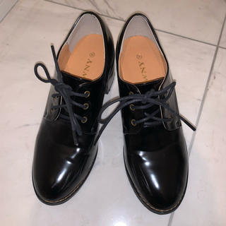 ウィゴー(WEGO)の🎀 レースアップシューズ ブラック M(ローファー/革靴)