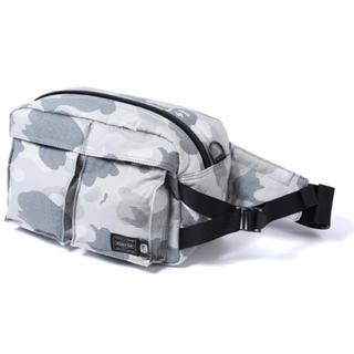 A BATHING APE - PORTER X BAPE DOT CAMO MILITARY WAISTBAG