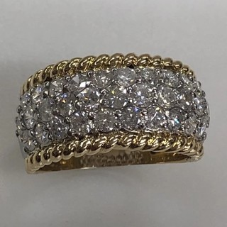 K18/PT900 ダイヤモンド2.20ct リング#17  (リング(指輪))
