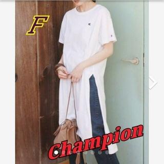 チャンピオン(Champion)のゲリラセール☆*° Champion ロングTシャツ サイズF(Tシャツ(半袖/袖なし))