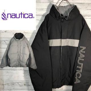 ノーティカ(NAUTICA)の【リバーシブル】ノーティカ☆90sセーリングジャケットダウンジャケットM0691(ダウンジャケット)