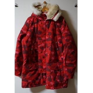 アベイシングエイプ(A BATHING APE)のN3Bジャケット 赤カモ(ミリタリージャケット)