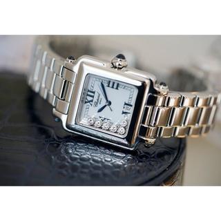 ショパール(Chopard)の美品 ショパール ハッピースポーツ 6Pダイヤモンド レディース Chopard(腕時計)
