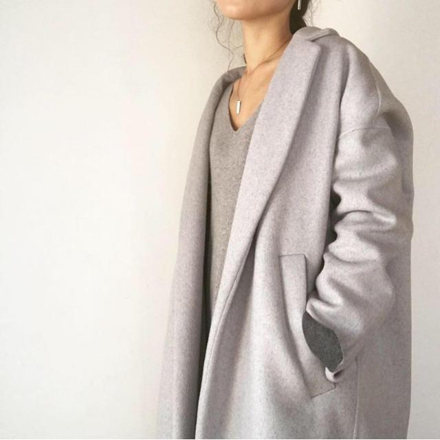 DEUXIEME CLASSE(ドゥーズィエムクラス)の62640円即完売ENFOLD エンフォルドトップリバーチェスターコート   レディースのジャケット/アウター(チェスターコート)の商品写真