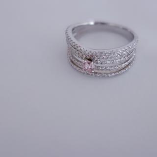 かなり希少なVVS2のファンシーピンクダイヤ 0.154ct(リング(指輪))
