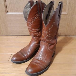 レッドウィング(REDWING)のジャスティン ウエスタンブーツ 24~24.5cm 赤茶色 テキサス(ブーツ)