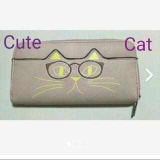 長財布 ライトピンク 猫(財布)