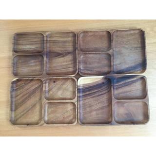 ムジルシリョウヒン(MUJI (無印良品))の無印 アカシアプレート 4枚セット(食器)