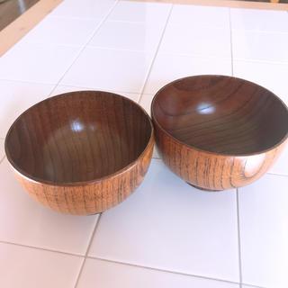 ムジルシリョウヒン(MUJI (無印良品))の無印良品 汁椀 2つセット 送料込み 木製 漆器(食器)