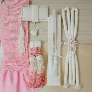 筥迫セット 白×ピンク(ウェディングドレス)