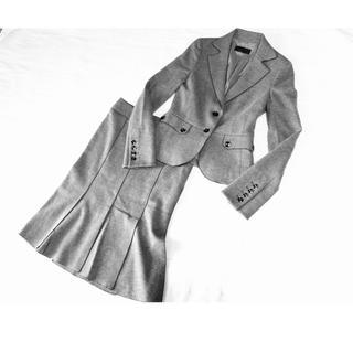 アイシービー(ICB)の(22)暖かアンゴラ混❤︎ICB ウールスカートスーツ ライトグレー(スーツ)