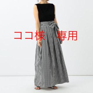 Demi-Luxe BEAMS - Demi-Luxe BEAMS / ギンガムチェック ロングスカート 36