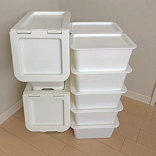 イケア(IKEA)のCAINZキャリコS+DAISO蓋つきボックスセット(ケース/ボックス)