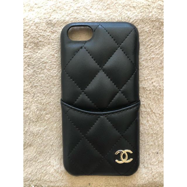 iPhone8アイフォンケース☆シャネルCHANEL☆ブラック の通販