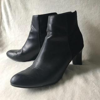 ユニクロ(UNIQLO)のユニクロ24.0㎝ショートブーツ☆黒(ブーツ)
