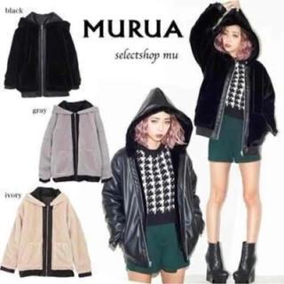 ムルーア(MURUA)の今売り切り希望!ムルーア フェイクレザー ボアパーカー コート(ムートンコート)