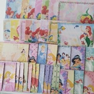 Disney - ディズニープリンセス 封筒 40枚