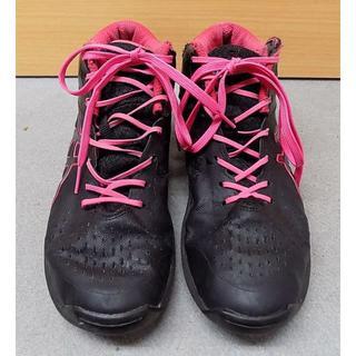 アシックス(asics)のアシックス TBF403 黒×濃いピンク シューズ24.5㎝ (バスケットボール)
