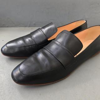 アパルトモンドゥーズィエムクラス(L'Appartement DEUXIEME CLASSE)のファビオルスコーニ Fabio Rusconi ローファー 38.5 ブラック(ローファー/革靴)