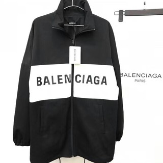 Balenciaga - BALENCIAGA バレンシアガ トラックジャケット ブラック/ホワイト