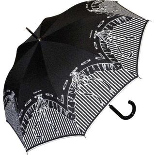 シャンタルトーマス(Chantal Thomass)のChantal Thomass 長傘 リボンデザイン CT418(ブラック)(傘)