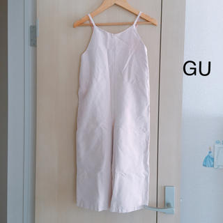 GU - GU ジーユー ♡ GIRLS スエードタッチサロペット 130