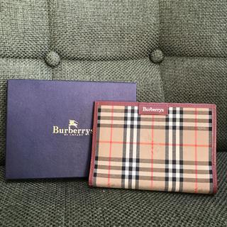 BURBERRY - Burberrys 手帳カバー ノバチェック  エンジ 箱あり